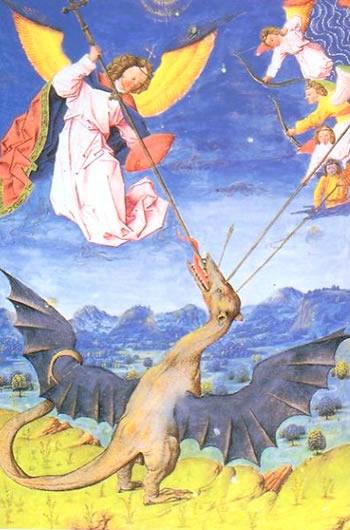 San Miguel Arcángel y los Ángeles combatiendo