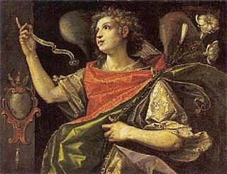 Arcángel Gabriel  por Orsola Maddalena Caccia ( 1596-1676)