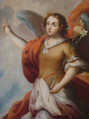 Arcángel Gabriel en el Museo de Arte de Philadelphia