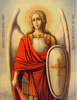 San Miguel Arcángel en contemplación