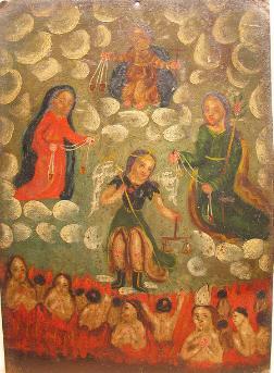 Retablo de San Miguel, Jesus, José y María