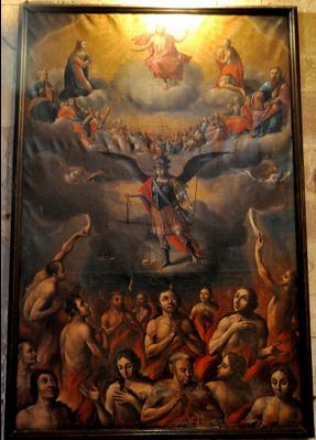San Miguel Arcángel pesando a las almas