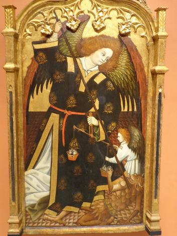 San Miguel Arcángel luchando con el demonio en el pesaje de las almas