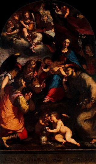 Virgen con el Niño, San Antonio de Padua, Tobías y el arcángel Rafael
