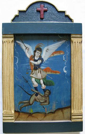 Retablo de San Miguel Arcángel abatiendo a Lucifer