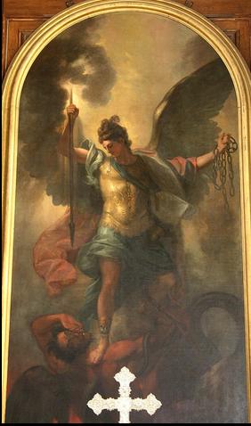 San Miguel Arcángel encadenando a Satanás