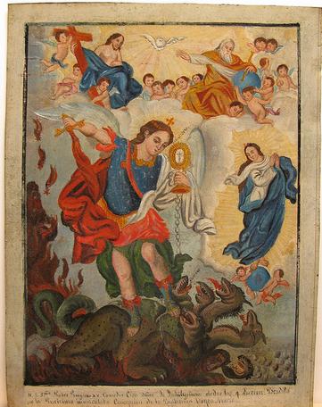San Miguel Arcángel y el Dragón de las 7 cabezas
