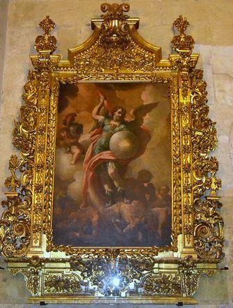San Miguel Arcángel derrotando a Satanás