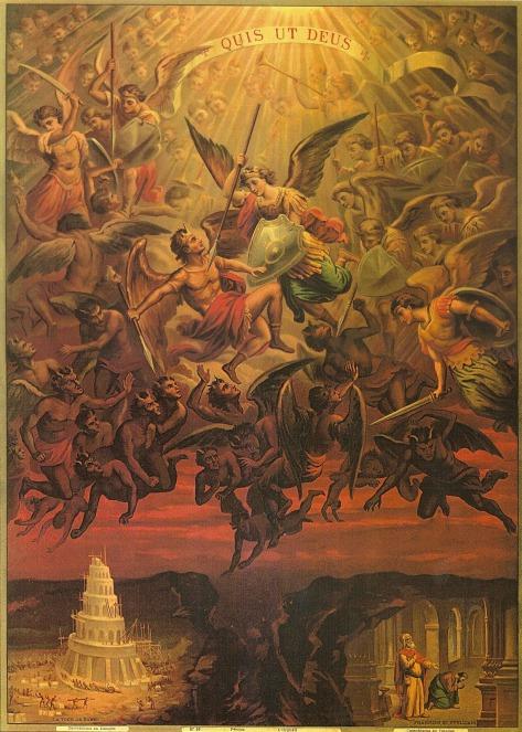 San Miguel Arcángel desterrando a los ángeles rebeldes