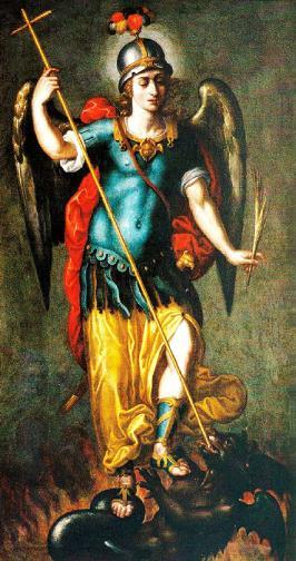 San Miguel Arcángel en lucha contra la bestia