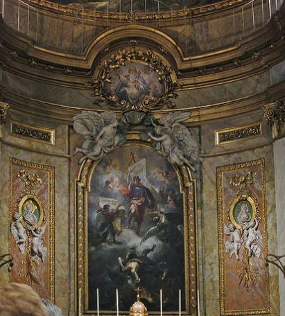 San Miguel Arcángel imponiéndose a Satanás