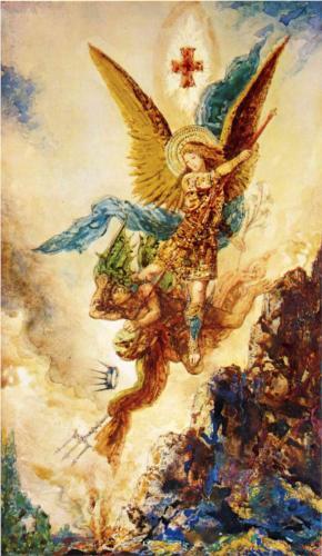 San Miguel Arcángel venciendo Satanás