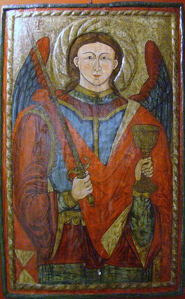 San Miguel Arcángel con el cáliz y la espada