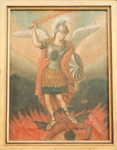 San Miguel Arcángel derrotando al Ángel caído