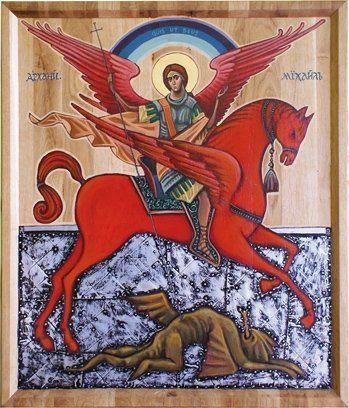 San Miguel Arcángel derrotando al Demonio