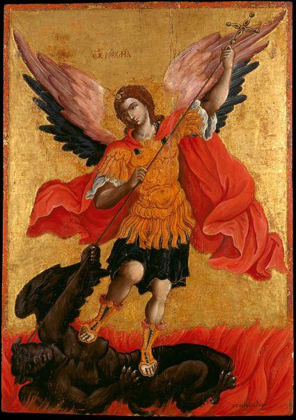 San Miguel Arcángel el venciendo al Demonio