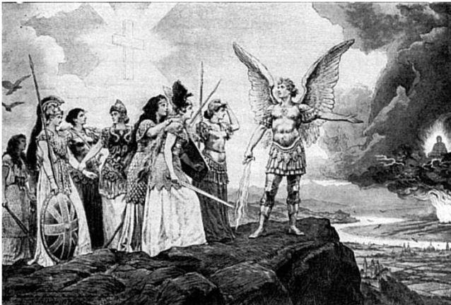 San Miguel Arcángel protegiendo a Europa