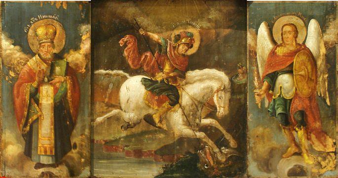 San Miguel Arcángel, San Jorge y Nicolás el Taumaturgo
