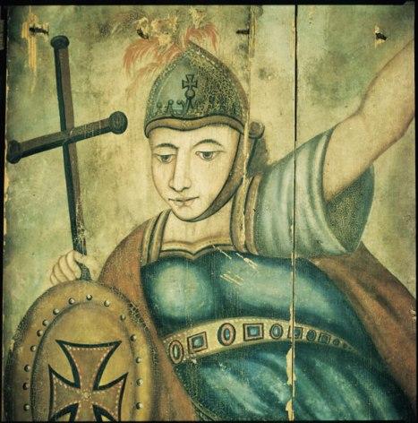 San Miguel Arcángel ubicado en el Museo de Historia de Bielorrusia