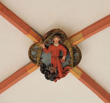 San Miguel Arcángel abatiendo a la bestia