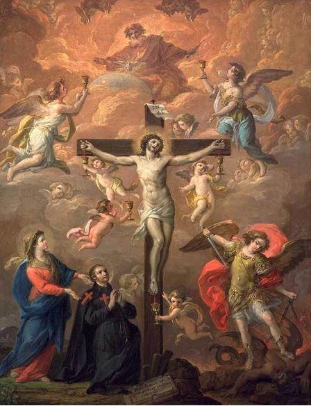 San Miguel Arcángel en la crucifixión de Jesús