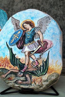 San Miguel Arcángel abatiendo al demonio