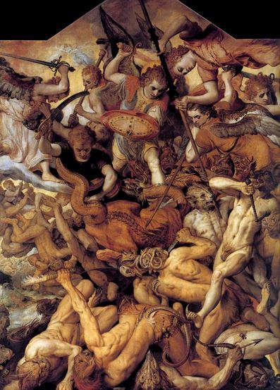 San Miguel Arcángel expulsando a los ángeles rebeldes_2