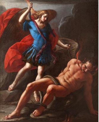 San Miguel Arcángel venciendo a Satanas