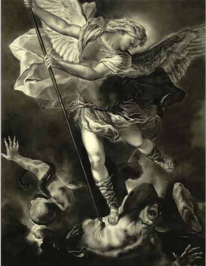 San Miguel Arcángel venciendo a Satanás