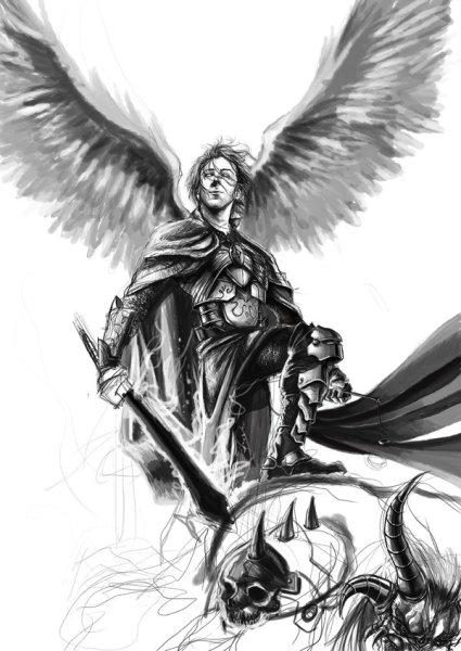 San Miguel Arcángel defiendones del mal