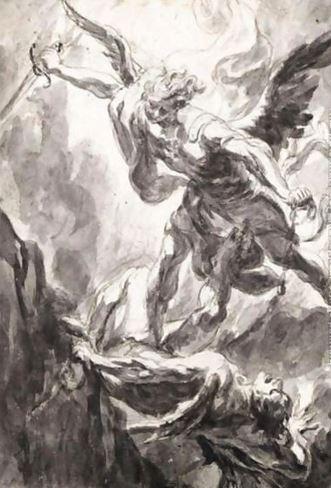San Miguel Arcángel en lucha contra Lucifer