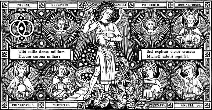 San Miguel Arcángel y la jerarquía angelical