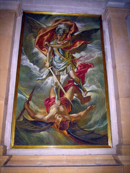 San Miguel Arcángel imponiéndose a Lucifer