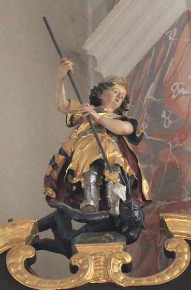 San Miguel Arcángel abatiendo al dragón 1