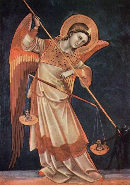 San Miguel Arcángel derrotando a la bestia