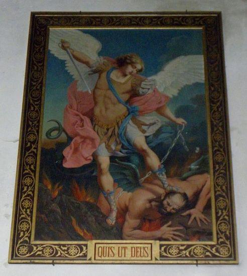 San Miguel Arcángel encadenando al demonio
