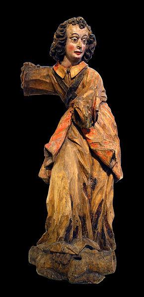 San Miguel Arcángel talla en madera