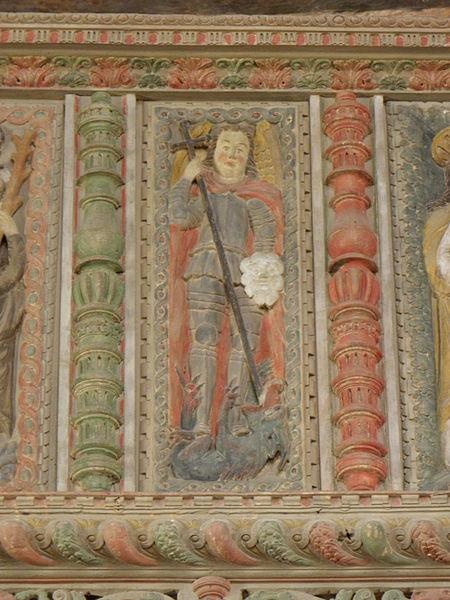 San Miguel Arcángel abatiendo al dragón 2