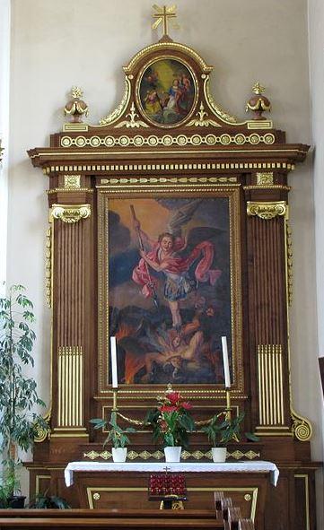 San Miguel Arcángel luchando contra Satanás