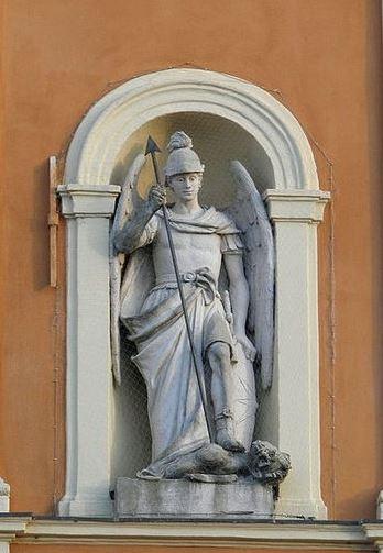 San Miguel Arcángel abatiendo a Luzbel