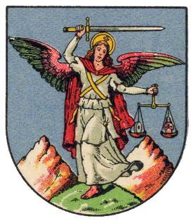 San Miguel Arcángel en el escudo de armas de Haag