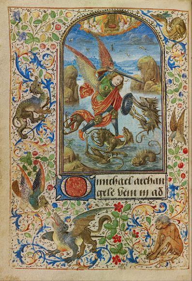 San Miguel Arcángel luchando contra los dragones