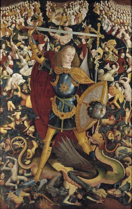 San Miguel Arcángel venciando al dragón