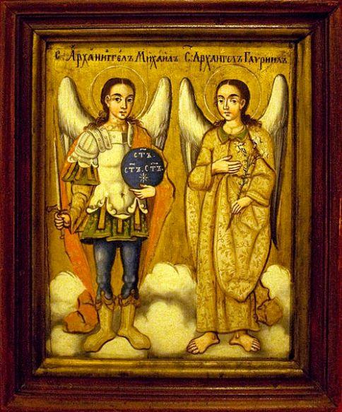 San Miguel Arcángel y el Arcángel Gabriel