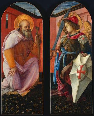 San Miguel Arcángel y San Antonio Abad