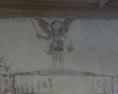 San Miguel Arcángel con su escala y espada