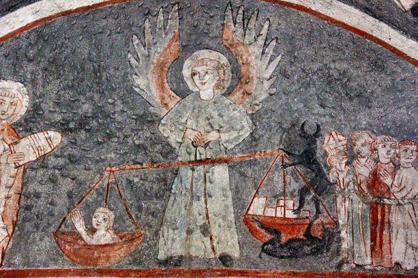 San Miguel Arcángel en el pesaje de las almas