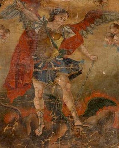 San Miguel Arcángel encadenando a Lucifer