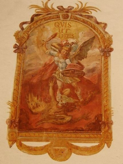 San Miguel Arcángel luchando contra el Dragón