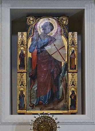 San Miguel Arcángel luchando contra la bestia